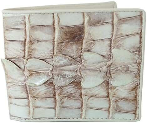 Authentic M Crocodile Skin Men's Bifold Big Tail Wallet
