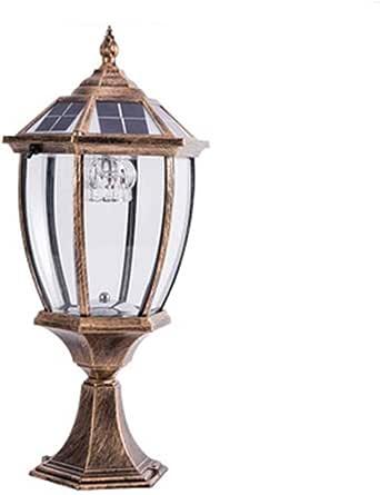 GXWLWXMS Luces de columna Faros de columnas Farola solar Farola de jardín Villa LED Lámpara de pared con luz de jardín Lámpara de pared for exteriores Luz de columna impermeable (Color :