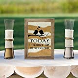 Rustic Barn Wood Wedding Unity Sand Ceremony Frame Set – Today I Marry My Best Friend Review