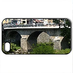 Troyan - Case Cover for iPhone 4 and 4s (Bridges Series, Watercolor style, Black)