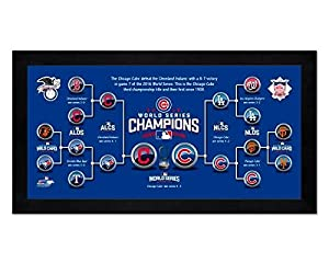 Road to the 2016 World Series Chicago Cubs Miniframe - 13 x 6.75 Photo - Licensed MLB Baseball Memorabilia