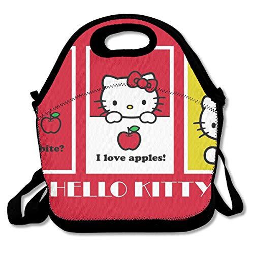 LIUYAN Personalized Lunchbox Hello Kitty Apple Waterproof Bag for Work/School/Meal Prep ()