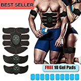 ABS STIMULATOR & MUSCLE TONER 2018 - Portable Muscle Toner, Abs Trainer, Toning Belt, Abdominal Pad, Ab Belt, Abdominal Pad Bioelectric Impulse (FREE EXTRA REPLACEMENT GEL PADS)
