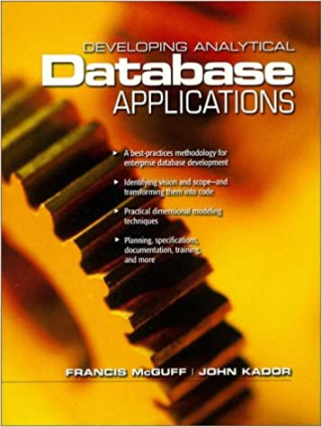 Book Developing Analytical Applications