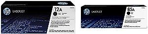HP 12A | Q2612A | Toner Cartridge | Black & 85A | CE285A | Toner Cartridge | Black