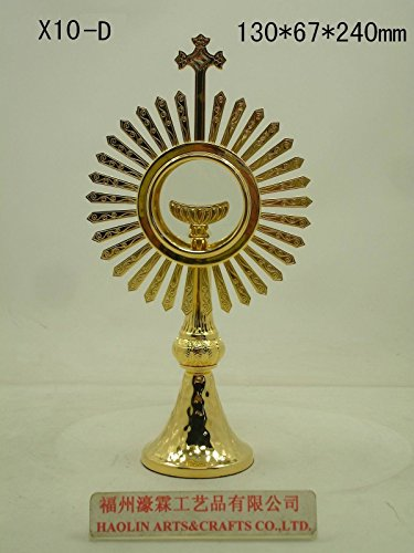 24K Gold-plated Monstrance Reliquary for Church or Home 9.45