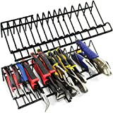 Plier Organizer Rack for Tool Box Storage and Organization (2 Pack) Holder Stores a Variety of Spring Loaded, Regular, Wide Handle Insulated Pliers | Fits Nicely in Toolbox Drawer or Chest Drawers