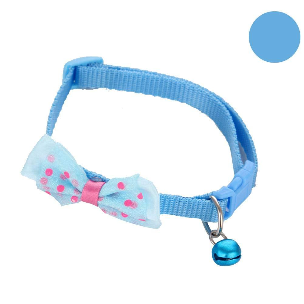 Heitaisi Pet Cute Butterfly Bell Collar Dog Cat Collar Pet Supplies Adjustable no Hair Clip Training Chain Choke Collar