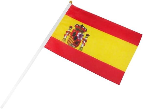 Westeng Bandera Española Mini Bandera de Gritos de Mano 21 * 21 CM: Amazon.es: Hogar