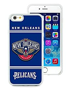 New Custom Design Cover Case For iPhone 6 4.7 Inch New Orleans pelicans 10 White Phone Case by icecream design