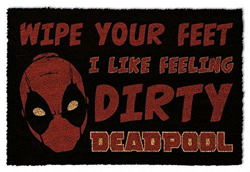 1art1 Deadpool Door Mat Floor Mat - Dirty (24 x 16 inches) from 1art1