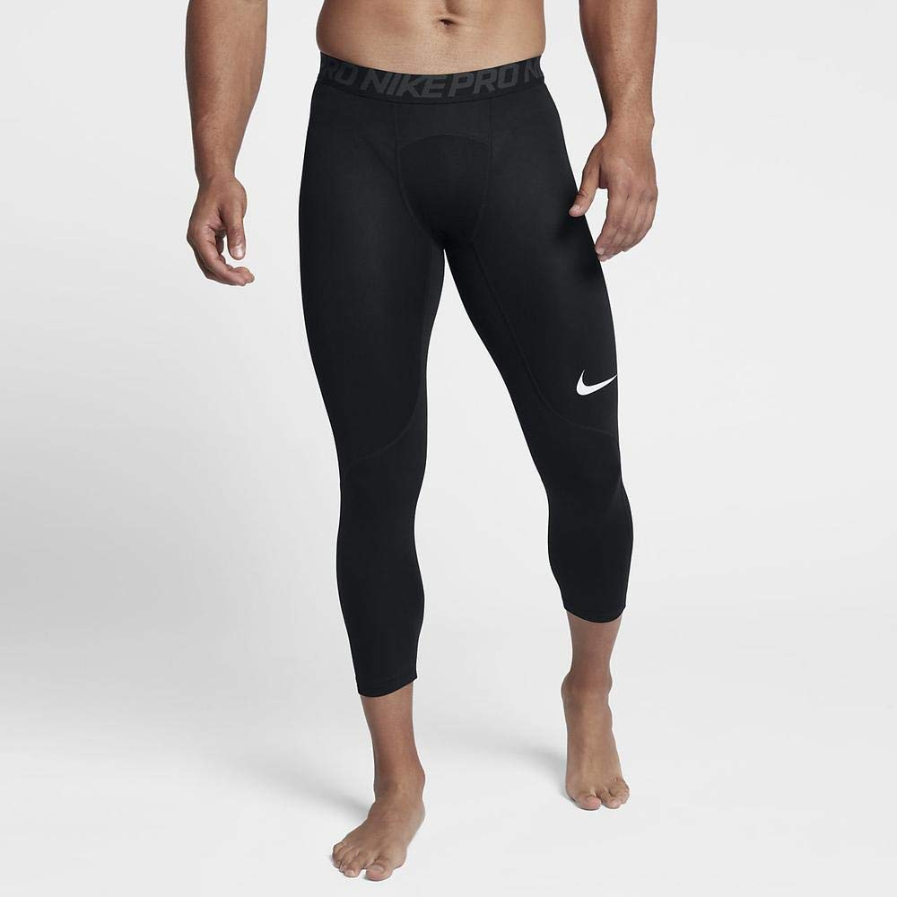 Nike Men's Pro 3qt Tight (Black/Anthracite/White, Small) by Nike (Image #6)