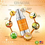 Anti aging Face Oil Serum With Vitamin C & E Hyaluronic Acid Jojoba Argan Rosehip Essential Oils, Organic Natural Facial Moisturizer Lotion Best Beauty Product For Dry Sensitive Skin Care Women Men