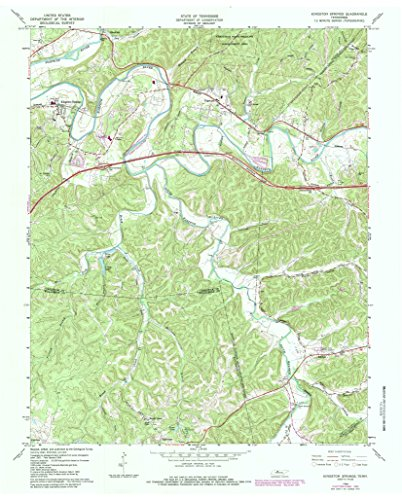 YellowMaps Kingston Springs TN topo map, 1:24000 Scale, 7.5 X 7.5 Minute, Historical, 1966, Updated 1984, 27.4 x 22 in - Paper ()