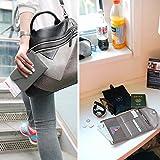 YALUXE Women's RFID Blocking Leather Large Wristlet Clutch Passport Checkbook Wallet Pebbled Grey