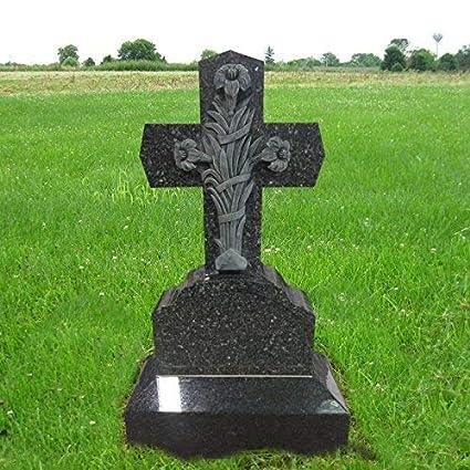 Amazon Com Granite Monument Head Tomb Grave Marker Cross