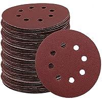 Super Mall 160pcs/set 125mm 5inch Hook Loop Sanding Discs 8 Hole Pads 40-2000 Grit Sander Sandpaper isc Abrasives for Polish Machine drop