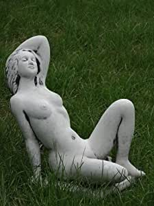 Figura de piedra mujer desnuda Emma nuelle gris pátina de aprox. 25kg, piedra) nº 268