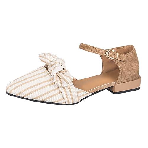Zapatos De Cuadrado Mujeres Alikeey Puntiagudas Poco Raya Tacón xedBCo