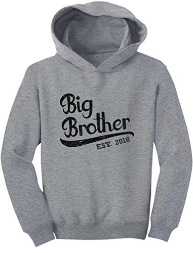 Tstars Gift For Big Brother 2018 Sibling Boys Toddler Hoodie 4T (Big Brother Hooded Sweatshirt)