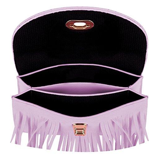 VanGoddy Street Level, Borsa a tracolla donna nero Black M Purple