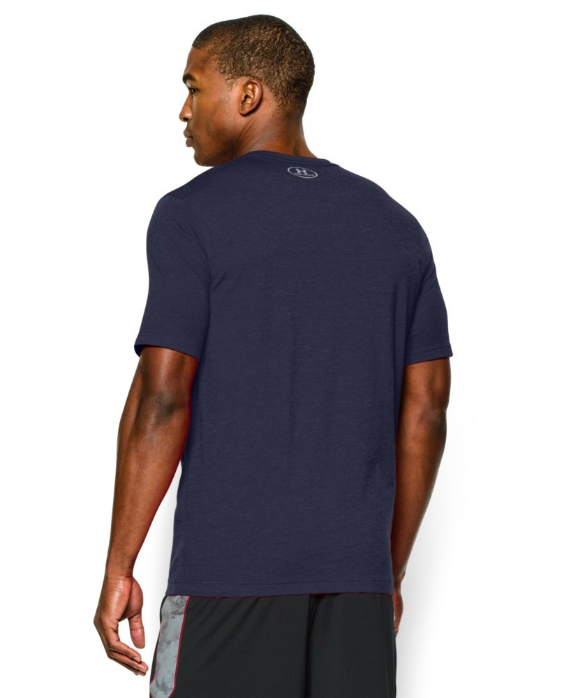 Under Armour Men's Charged Cotton Left Chest Lockup T-Shirt, Midnight Navy /Steel, XXX-Large by Under Armour (Image #2)