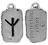 Elhaz - Protection Rune Pendant Charm Amulet Talisman