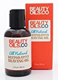 BEAUTYOILS.CO All Natural Restorative Shaving Oil (2 fl oz) - Moisturizes and Protects Against Nicks, Cuts and Razor Burn