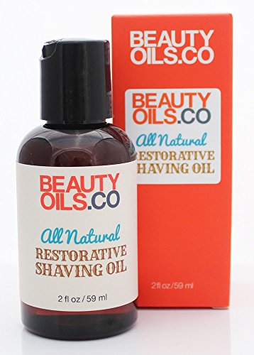 All Natural Restorative Shaving Oil (2 fl oz) - Moisturizes and Protects Against Nicks, Cuts and Razor Burn