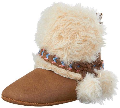 Jessica Stretch Heels (Jessica Simpson Girls' Marci Boot, Tan Fur, 3 M US Infant)