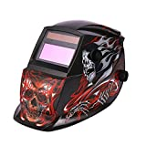 Evokem Solar Welding Mask Autodark Automatic Variable Light for Mig Tig Arc Welder with Skull Pattern