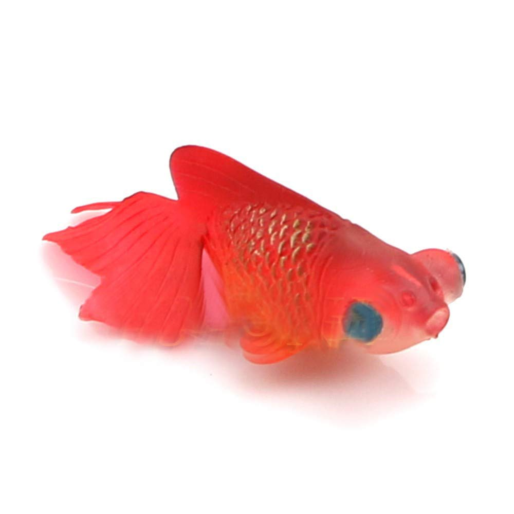 Xiton Pecera de Acuario Plastic Swimming Gold Fish Decoration (5 Red) 1 PC