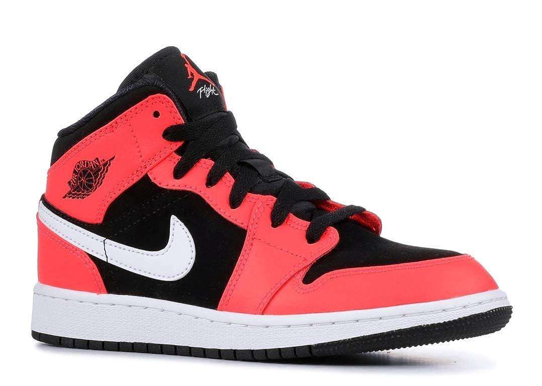 Mehrfarbig (schwarz  Infrarot 23  Weiß 061) Nike Herren Air Jordan 1 Mid (Gs) Fitnessschuhe, schwarz, Dark Concord-Weiß