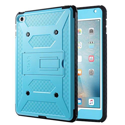 iPad Mini 4 Case, ULAK Hybrid KNOX ARMOR Heavy Duty Shockproof Dual Layer Protective Case for Apple iPad Mini 4 Device (Blue)