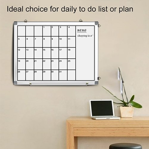 Magnetic White Board 24 x 18 Dry Erase Board Wall Hanging Whiteboard by maxtek (Image #4)