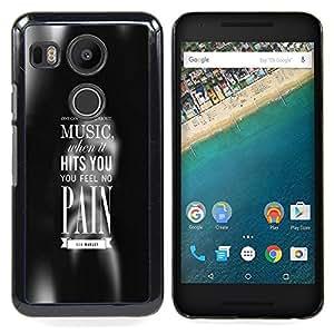 GIFT CHOICE / Teléfono Estuche protector Duro Cáscara Funda Cubierta Caso / Hard Case for LG GOOGLE NEXUS 5X H790 // MUSIC HITS YOU //