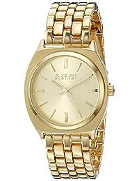 August Steiner Women's AS8186YG Analog Display Japanese Quartz Rose Gold Watch
