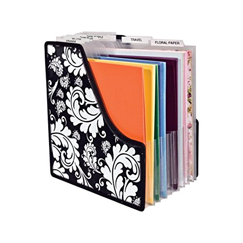 Advantus Scrapbooking Paper - Storage Studios Projections Paper Holder with 10 Expandable Sections, 14.625 x 9 x 14.25 Inches, Black and White (CH92650)