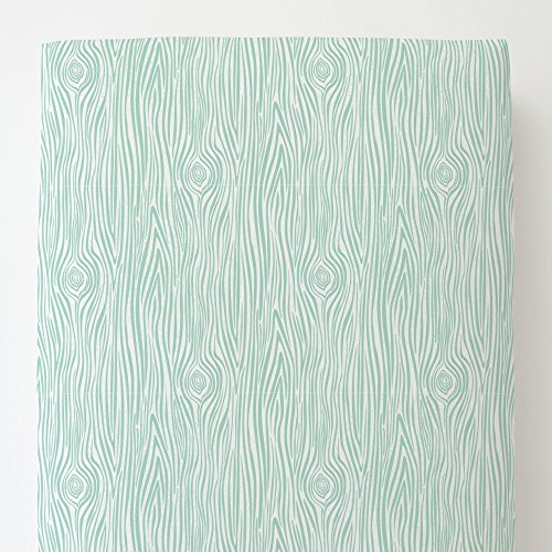 Carousel Designs Mint Woodgrain Toddler Bed Sheet Fitted by Carousel Designs (Image #4)