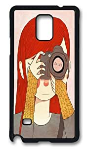 Zheng caseSamsung Note 4 Case,WENJORS Awesome Behind The Lens Hard Case Protective Shell Cell Phone Cover For Samsung Note 4 - PC Black