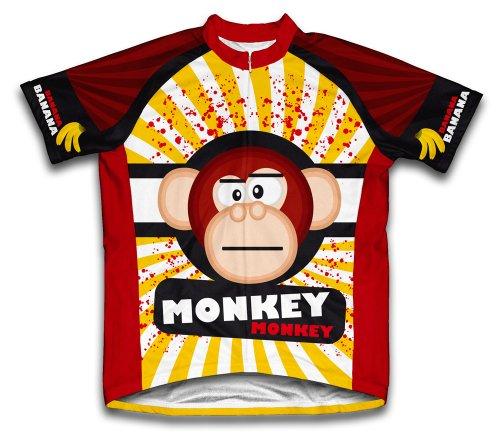 ScudoPro Crazy Banana Monkey Short Sleeve Cycling Jersey for Men - Size XL (Banana Jersey)