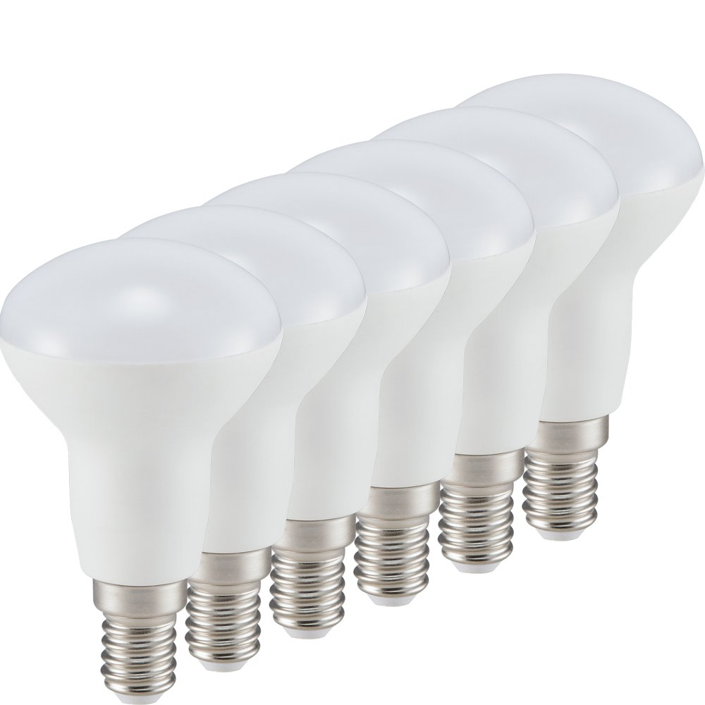 Wei/ß Plastik E14 5 W M/ÜLLER-LICHT 6er-SET LED Reflektorlampe 6 St/ück