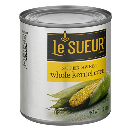 Le Sueur Whole Kernel Corn, Super Sweet Flavor, 11 Ounce (Pack of 12)