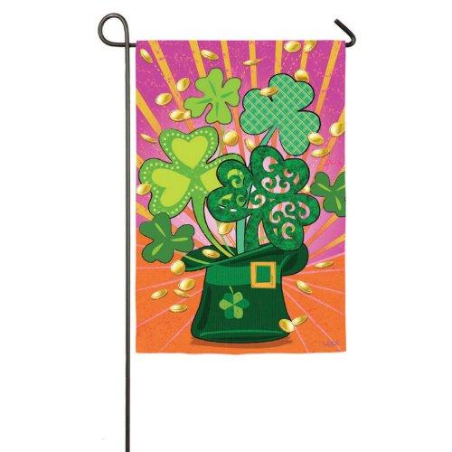 Shamrock Hat Garden Flag