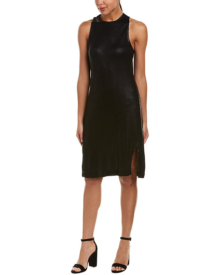 Black Splendid Womens Astor Metallic Coated Dress Dress