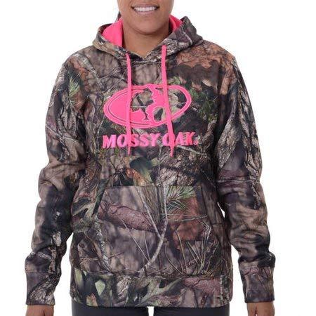 bb5b9557 Amazon.com: Mossy Oak Women's Performance Logo Hoodie (Large: Clothing