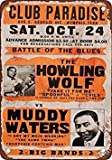 1970 Howling Wolf & Muddy Waters in Memphis Vintage Look Reproduction Metal Tin Sign 12X18 Inches