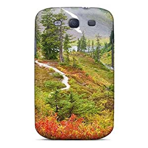 High-quality Durability Case For Galaxy S3(meadows At The Foot Of Mount Baker In Autumn)