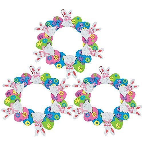 Set of 3 Circles Wreath Easter Egg Decorating Craft Kit