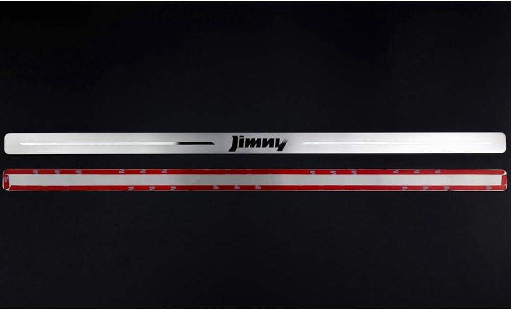 f/ür Suzuki Jimny JB64W 2019 2020 Protect T/üRschweller Sill Scuff Willkommenspedal Schutzabdeckung Trimmstreifen Car Styling Zubeh/ör NTUOO 2Pcs Auto Edelstahl Einstiegsleisten Kick Plates